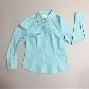 Ann Taylor LOFT light blue button down shirt